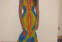 African Dress Model