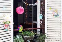 Jolis balcons / balcon, plantes, décoration