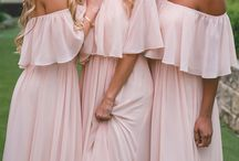 Bridesmaid dressed
