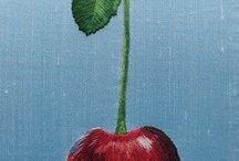 frutas bordadas
