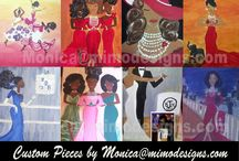 MY ART PIECES by monica@mimodesigns.com / I love to paint as gifts and have just started selling my pieces. Here are few of my Greek inspired pieces. Greek artwork, African American art, #alphakappaalpha #zetaphibeta #customartwork #DeltaSigmaTheta #Greek #NPHC #africanamericanart