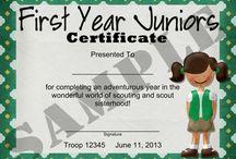 Girl Scout - Junior Certificates