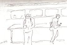 Beweging tekenen-voorbeelden / Voorbeelden van het tekenen van beweging