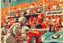 Affiches courses automobiles
