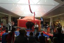 Le cirque s'invite à la galerie commerciale / Installation d'un cirque dans la galerie Commerciale Cotentin