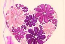 kağıt çiçek kalp