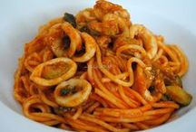 espaguetis con pescado