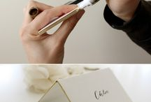 DIY wedding card