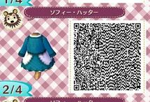 ACNL: QR Code Deigns / Gathering of QR Codes of flags, dresses, shirts and hats for Animal Crossing New Leaf