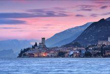 Marcesine Lake Garda Italy