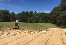 1901 sq. ft - Dutch Mill / We just received construction pics from our customer in New Jersey. Here are concrete and floor framing shots before log work arrives to site by truck and a few shots of the log work reassembly, wall and roof framing. This late wood western red cedar log shell was prebuilt by Cascade Handcrafted.