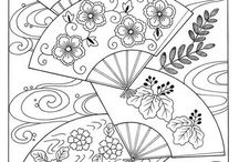 Education - Japanese Colouring Pages