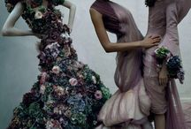 alexander mcqueen sarabande flower dresses