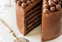 Chocolate mousse layered cake