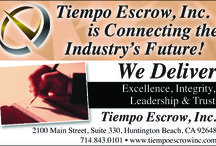 Tiempo Escrow- The ONE.The ONLY. The ORIGINAL. / Tiempo Escrow Inc. was founded in 1981 as an independent escrow company licensed by the California Department of Business Oversight, and still remains a premier independently owned full service escrow office. Please call us today:   714-843-0101