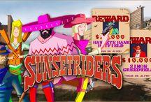 Sunset Riders (SNES) / Sunset Riders este jogo é do género de ação. Foi lançado para os salões de videojogos em 1991 de Setembro, dois anos mais tarde foi lançado para a Super Nintendo e Sega Megadrive.