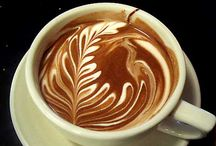 """Latte, Anyone? / A method of preparing coffee by pouring steamed milk into a shot of expresso and the result is a pattern or design on the surface. It can also be done by """"drawing"""" in the top layer of foam.  It is a difficult art form. / by CJ Foxcroft"""