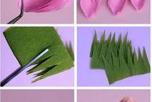 rozen van crêpe papier