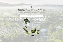 Ritual from Bali & Siam / In Indonesia, there is a genuine tradition of ancestral expertise that stimulates radiance of the complexion and purifies the skin. These Beauty Recipes have inspired Cinq Mondes to create its product, treatments and massages of the Bali & Siam Ritual