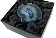 Crystal Gift Boxes / http://www.crystalage.com/online_store/crystal_mineral_gift_box_sets_1005.cfm