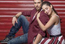 Carmen Villalobos y Sebastian Caicedo  / La pared es alrededor de dos grandes personas  , los actores increíbles y talentosos y pareja perfecta