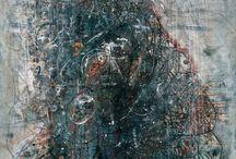 """Tachisme / Термин произошел от французского """"пятно"""". Критики использовали его с начала 1950-х для описания работ, отличающихся спонтанностью и размашистой манерой письма. Может рассматриваться в рамках неформального, жестуального искусства. Явления Ар Брют и КоБрА также принадлежат к эстетике Ташизма. Serge Poliakoff, Antoni Tapies, Jean Dubuffet, Hans Hartung, Alberto Burri, Wols"""