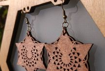 Wood Jewelry / Self designed & made wooden jewelry by  www.sachira-lightcrafts.com. ~*~Blessings & Love~*~
