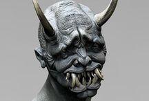 demon  faces