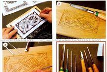 Cesellature ed intagli in legno