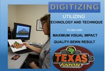 DIGITIZING / In-house digitizing services.  Digitizing is the process of digitally designing a graphic to produce a quality-sewn,  embroidered result.