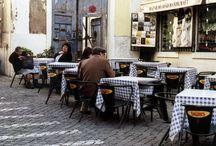 eten en plaatsen om het op te eten. / eten