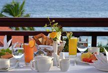 Mediterranean breakfast / All happiness depends on a leisurely breakfast.  - John Gunther