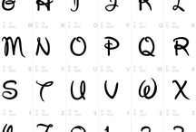 alfabet disney