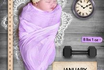 Baby monthly photo ideas