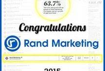 Rand Marketing Awards / At #RandMarketing, we work hard as a team to get the desired results for our clients in all that we do. #Accomplishments #Awards
