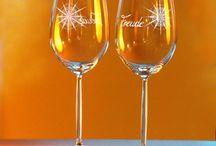 Gläser und #Glücksbringer mit Kristallen / Gläser und #Glücksbringer mit Kristallen