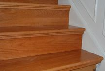 Solid Tread Covers & Risers / Reface your ugly carpet stairs with solid hardwood tread and riser covers. Pick from red oak, white oak, maple, brazilian cherry and hickory. Save tons of time & money with easy maintenance!