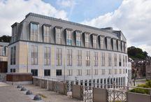 Belgium: Courhouse in Liège / Courhouse in Liège (Belgium) by : Atelier d'Architecture du Sart Tilman, Contractor : Orlando Fabrice sprl, Copyright :  JUMP PICTURE  #NaturalZinc #Project #Architecture #Zinc #VMZINC #Justice #Stone #PublicBuilding #Roofing #ProjectOfTheDay #Belgium