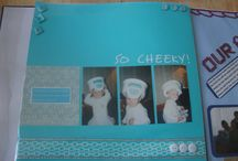 Scrapbooks pages completed by me. / by Gina
