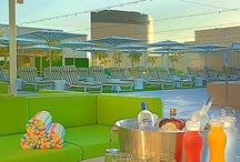 The Pool Deck at the Downtown Grand. / The Pool Deck is a popular hotspot day or evening, with panoramic views of Downtown Las Vegas and often the site for concerts, events and hanging out. Jump into the refreshing waters of the infinity rooftop pool. Bask in the sun – or relax under umbrellas – on chaise lounges, play a game ping pong or indulge in the exclusivity of a poolside semi-private cabana. / by Downtown Grand Hotel & Casino