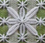 Tray cloth embroidery  Swiss