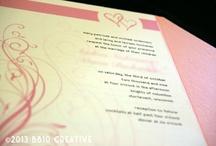 Pink/Rose/Wine Wedding Invitations