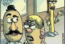 Funny cartoons - food humor