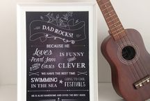 Family: Father's Day / DIY and lovely gifts for daddy on Father's Day