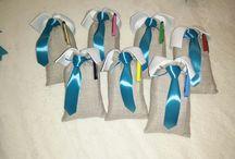 bomboniere cresima / sacchetto a camicia con cravatta e penna touch.