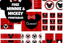 Ücretsiz Mickey ve Minnie Mouse Parti Seti