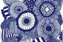 marimekko dibujos flores