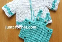 Baby crochet baby coat & diaper