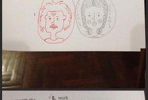 wenn Lehrer deine Bilder zu Ende malen