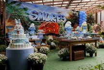 festa de smurfs